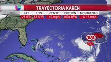 Advierten que Karen podría girar sobre su propia trayectoria y colocarse en ruta hacia Las Bahamas