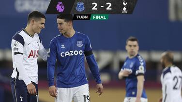 James y el Everton empatan ante el Tottenham de Mourinho