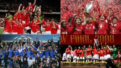 En fotos: los cuatro títulos de clubes ingleses en la UEFA Champions League