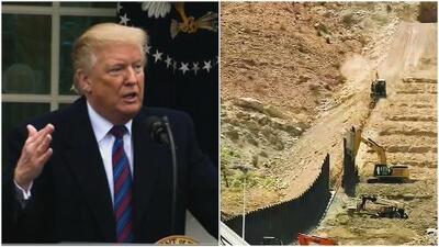 Donald Trump confronta a medios de comunicación por construcción del muro fronterizo con México
