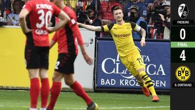 Borussia Dortmund gana en Freiburg y sigue a las 'vencidas' con el Bayern