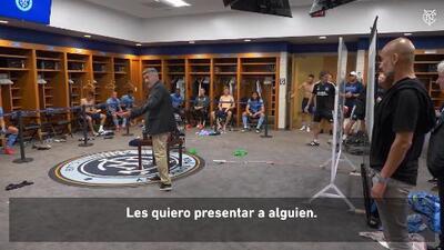 Guardiola, ¿coquetea con MLS? Pep visitó vestuario de New York City FC