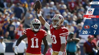 49ers mantiene el invicto en la casa de Rams