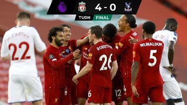 Liverpool hace lo suyo y gana a Crystal Palace para acariciar el título