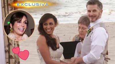 Exclusiva: la hija de Giselle Blondet tuvo una romántica boda de cuento de hadas frente al mar