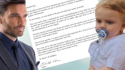 Esta es la carta completa que Julián Gil le escribe (a corazón abierto) a su hijo Matías