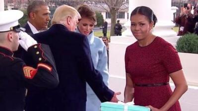 La cara que Michelle Obama le puso a Melania Trump y otras fotos que hicieron furor en 2017