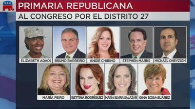 Primarias Republicanas: estos son los nueve aspirantes al Congreso por el Distrito 27 de Florida