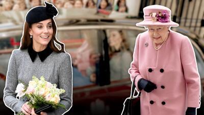 Tierno momento: Kate Middleton y la reina Isabel II comparten agenda (y una cobijita) en una aparición juntas