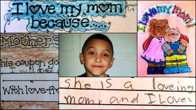 Las notas que Gabrielito escribió para el Día de las Madres