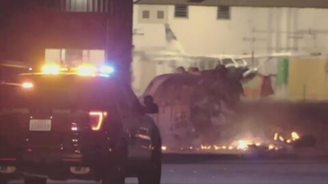 Investigan el accidente de una avioneta en el Aeropuerto Municipal de Fullerton que dejó al piloto sin vida