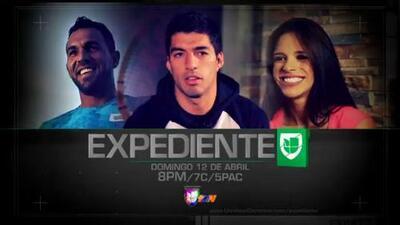 Luis Suarez y Michelle Lewin en Expediente Univision Deportes