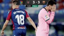 Barcelona deja ir el triunfo ante Levante y se le escapa LaLiga