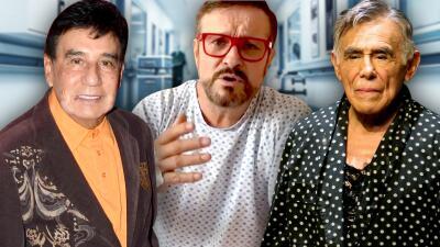 Convalecientes en el mismo hospital: Arturo Peniche, Gualberto Castro, Héctor Suárez y la mamá de Carlos Espejel