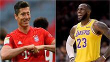 LeBron James y Lewandowski van por el trono de Messi