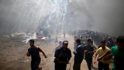 Nueva jornada de protestas en Gaza tras la masacre que dejó cerca de 60 muertos a manos de Israel