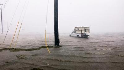 Vientos fuertes e inundaciones, el panorama en Bastrop por paso de huracán Harvey