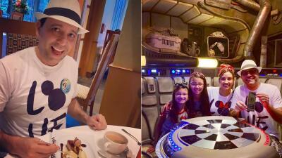 EN FOTOS: Omar celebró su cumpleaños cumpliendo un sueño en Disney World