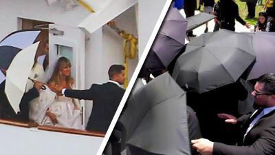 En fotos: la cuarta boda de Heidi Klum (usó paraguas como Chiquis Rivera, pero le fallaron)