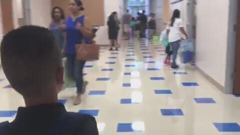 Así fue el primer día de clases en una escuela de Houston, afectada hace un año por el huracán Harvey