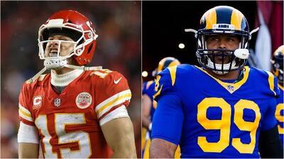 Patrick Mahomes y Aaron Donald, reconocidos Ofensivo y Defensivo del Año en la NFL