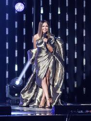 HOLLYWOOD, FLORIDA - MAY 09: Thalia performs onstage during the Latin GRAMMY Celebra Ellas y Su Musica Show on May 09, 2021 in Hollywood, Florida. (Photo by John Parra/Getty Images for The Latin Recording Academy)