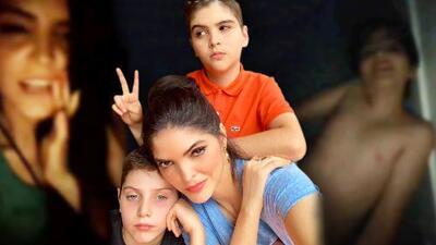 """Como dice su canción, Ana Bárbara encontró a sus hijos """"hasta debajo de la cama"""" ( y uno de ellos atorado)"""