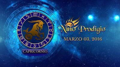 Niño Prodigio - Capricornio 3 de marzo, 2016