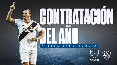 Tras una exitosa temporada regular, el sueco Zlatan Ibrahimovic es reconocido como la Contratación del Año en MLS