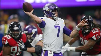 Los Vikings superan 14-9 a los Falcons y consiguen su octava victoria seguida