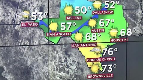 Houston tendrá condiciones secas y un descenso en las temperaturas para este viernes