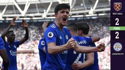 Sin 'Chicharito' Hernández, al West Ham se le escapó la victoria ante el Leicester City