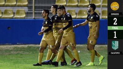 ¡Salen del fondo! Dorados derrota a Zacatepec y abandona el sótano en el Ascenso MX