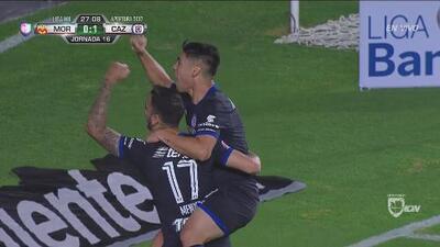 Felipe Mora cerró la pinza para el 2-0 de Cruz Azul sobre Morelia