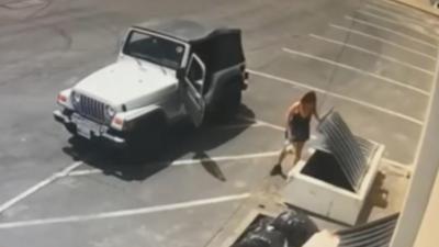 Arrestan a la mujer que arrojó a la basura a varios cachorros dentro de una bolsa de plástico