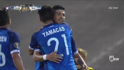 Bonilla sorprende a la zaga y anota el 1-0 de El Salvador frente a Curazao