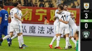 Sin Suárez ni Cavani, Uruguay golea a Uzbekistán en la China Cup