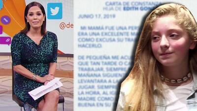 Muy conmovida, Karla Martínez reaccionó a la hermosa carta de despedida de Constanza a su mamá Edith González