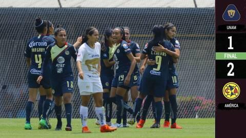 América se impone a Pumas en el Clásico Capitalino femenil