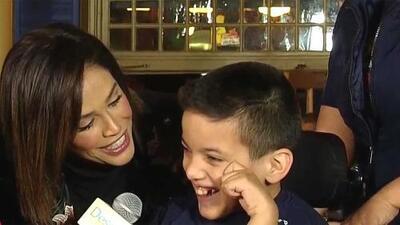 Karla terminó con el corazón contento por este acto de amor de un niño del Teletón USA