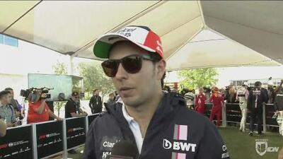 Sergio el 'Checo' Pérez terminó el GP de EEUU inconforme con la estrategia de pits