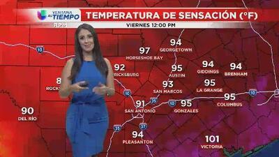 Sigue en calor en San Antonio y seguimos vigilando el trópico