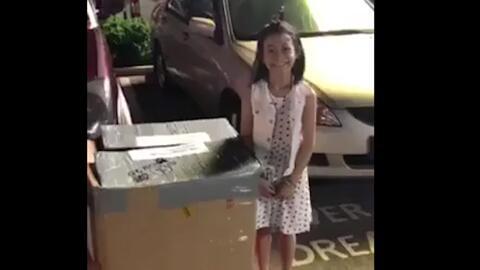 La sorpresa navideña a esta niña te derretirá el corazón