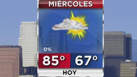 Cielo ligeramente nublado y calor moderado para este miércoles en Los Ángeles