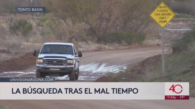 Mal tiempo dificulta la búsqueda de la menor desaparecida en Tonto Basin