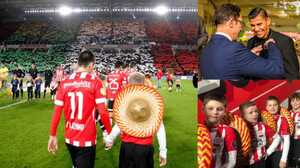 Homenajean a Carlos Salcido y se desata la fiesta mexicana en las gradas del PSV