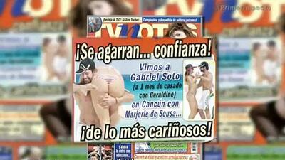 Polémicas fotos de Gabriel Soto y Marjorie de Sousa