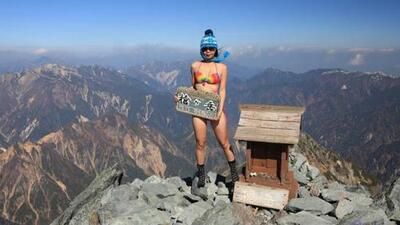 """La escaladora en bikini Gigi Wu es la última víctima de la """"enfermedad del selfie"""""""