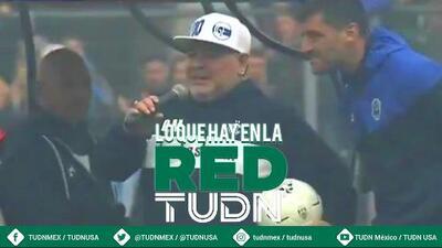 ¡Espectacular! El recibimiento a Maradona en Argentina