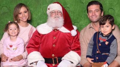 Satcha Pretto comparte una simpática anécdota de la foto familar con Santa Claus